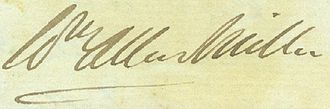 William Allen Miller - Miller's signature