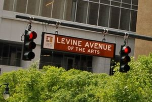 Levine Center for the Arts - Levine Avenue sign