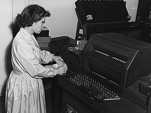 Unit record equipment - Hollerith machine in use at the London School of Economics in 1964