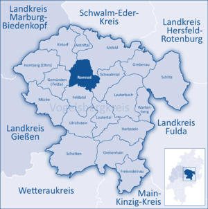Romrod - Image: Mittelhessen Vogelsberg Rom