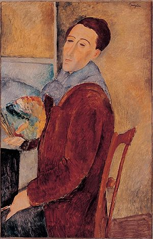 Modigliani self-portrait
