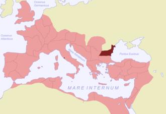 Moesia - Moesia Inferior (highlighted).