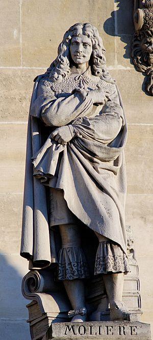 Bernard Seurre - Molière by Seurre the elder, cour Napoléon of the palais du Louvre