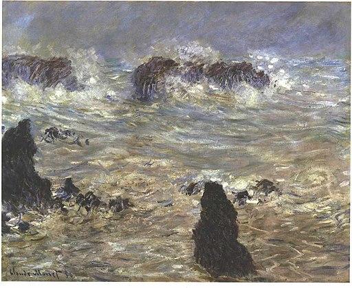 Monet - Sturm an der Küste von Belle-ile