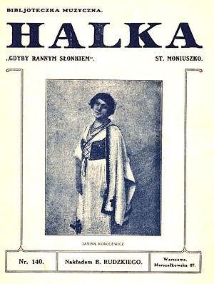 Halka - Image: Moniuszko Halka Gdyby rannym slonkiem (Spiewnik c 1895)