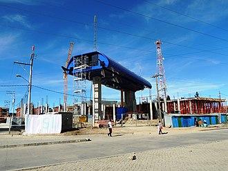 Mi Teleférico - Blue Line station under construction