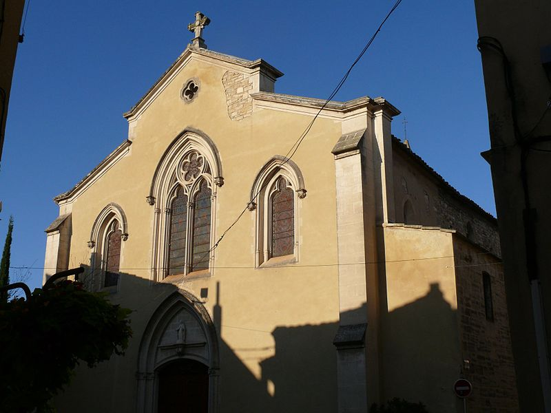 Our Lady of Nazareth's church of Monteux (Vaucluse, Provence-Alpes-Côte d'Azur, France).