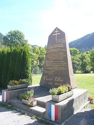 Haute-Savoie - A monument to the Maquis des Glières in Entremont