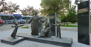 Grey Nuns - Statue to the Grey Nuns, Quebec City