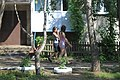 Moscow, Filyovsky park district - Summer scene in a residential area.jpg