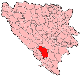 Mostar Municipality Location.png