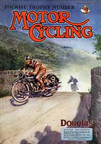 Douglas (motorcycles) - 1926 magazine cover featuring a Douglas motorcycle in the Isle of Man TT