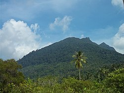 Mount Ranai in Natuna Regency
