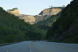 Mountaintop removal mine in Pike County, Kentucky