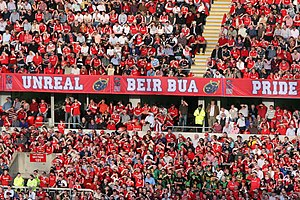 Thomond Park - Munster Fans at a game in the stadium in April 2010