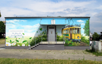 Mural at Thiemstraße substation (west).png