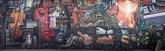 Latin America - Presencia de América Latina (Presence of Latin America, 1964–65) is a 300 square meters (3,200 sq ft) mural at the hall of the Arts House of the University of Concepción, Chile. It is also known as Latin America's Integration.