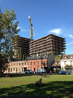 Griffintown - Condominiums under construction in October 2014.