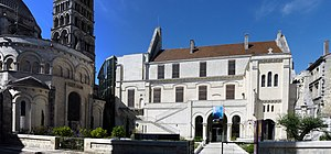 Musée d'Angoulême - Museum (right) and cathedral (left)