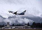 N613AS Alaksa Airlines Takeoff (33691495691).jpg