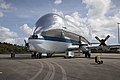 NASA 941 Super Guppy lands to pick up EM-1 Orion Service Module structural test article (KSC-20170623-PH-GEB01 0008).jpg