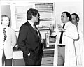 NCTR Scientists Discuss Activities with Governor Bill Clinton, June 16, 1983 (7421769086).jpg