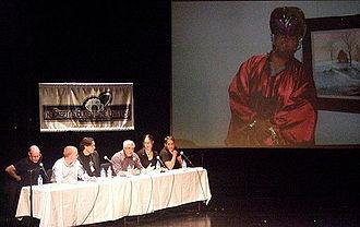 Rebecca Watson - Image: NECSS 2009 Richard Wiseman and Skeptics Guide panel