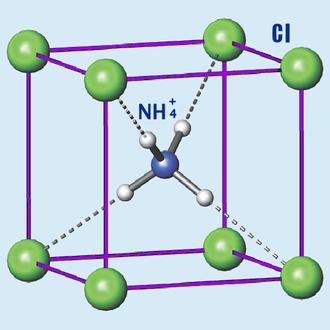 Ammonium chloride - Image: NH4Cl