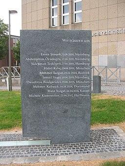 Foto des NSU-Mahnmal in Dortmund