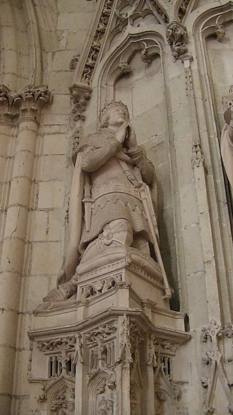 Jean de Malestroit - Image: Nantes Cathedral statue of John V of Brittany