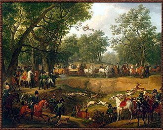 Forest of Compiègne - Most French monarchs enjoyed extravagant hunts at Compiègne. This 1811 oil painting by Carle Vernet depicts the Emperor Napoleon I at his sport.