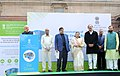 Narendra Modi addressing at a function for Demonstration of Retrofit Electric Bus, at Parliament House, in New Delhi on December 21, 2015. The Speaker, Lok Sabha, Smt. Sumitra Mahajan and the Union Ministers are also seen (1).jpg