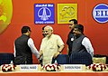 Narendra Modi at the 'Urja Sangam', a summit dedicated to energy, in New Delhi on March 27, 2015. The Union Minister for Communications & Information Technology, Shri Ravi Shankar Prasad is also seen.jpg