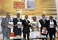 Narendra Singh Tomar releasing the knowledge report book, at the inauguration of the international exhibition and conference on Steel Industry 'India Steel 2015', in Mumbai. The Secretary, Ministry of Steel.jpg