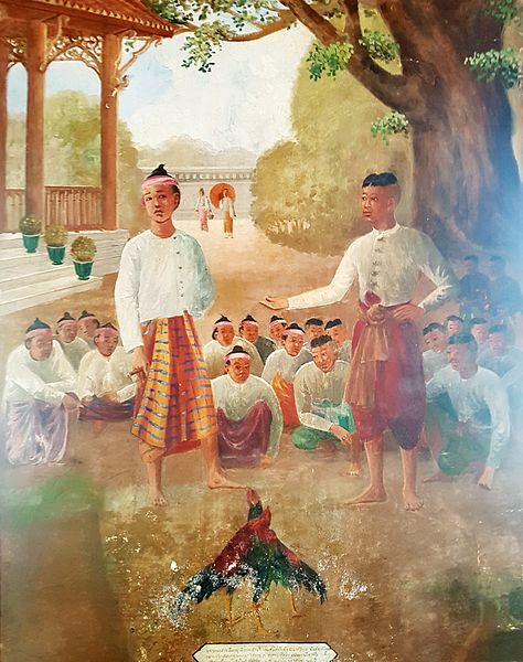 https://upload.wikimedia.org/wikipedia/commons/thumb/4/48/Naresuan_life_-_Wat_Suwan_Dararam_-_Section_03_%282121_BE%29.jpg/474px-Naresuan_life_-_Wat_Suwan_Dararam_-_Section_03_%282121_BE%29.jpg
