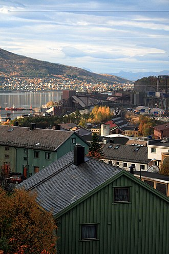Narvik - Near Narvik city centre; Ankenes is seen across the bay