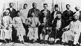 Natal Indian Congress - Founders of the Natal Indian Congress; Gandhi is on the top row, fourth from left.