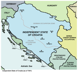 Situación de Estato Independient de Croacia