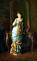 Near the Mirror (Girl with a necklace) by Sergei Gribkov 1884.jpg