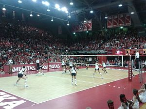 Nebraska Coliseum - Playing against the Iowa Hawkeyes in the last season at the Coliseum in 2012