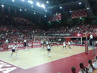 Nebraska Coliseum - Nebraska vs. Iowa at the Coliseum on November 21, 2012