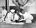 Nehru, Gandhi and Patel AICC 1946.jpg