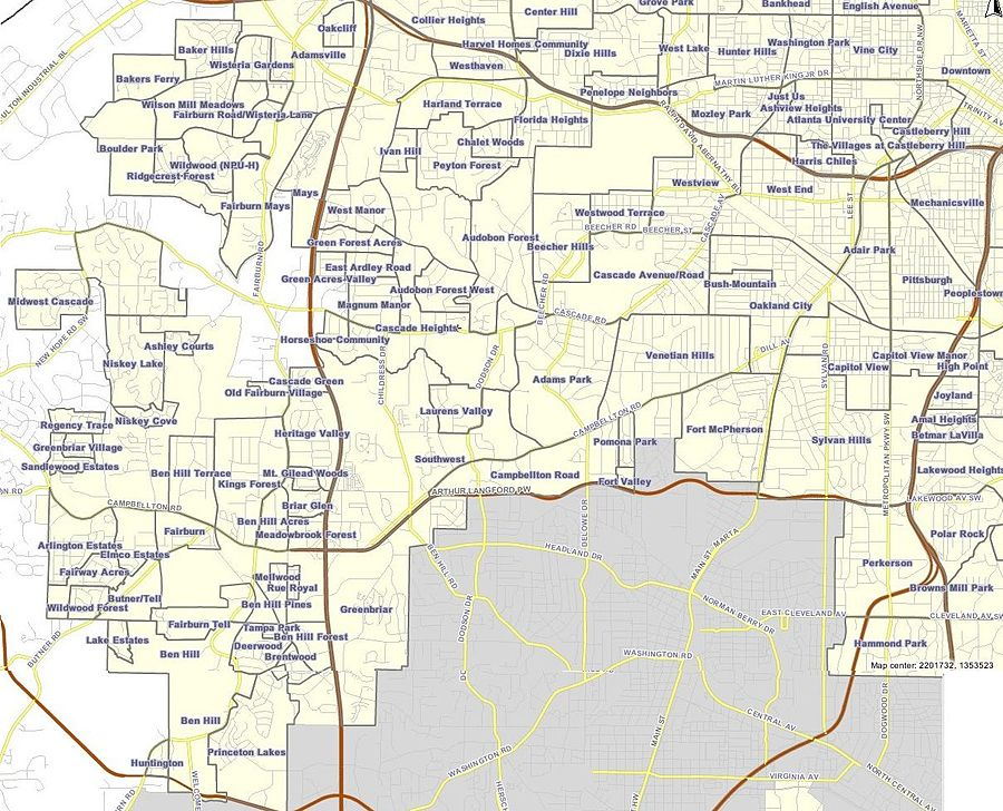 Neighborhoods In Atlanta Wikipedia