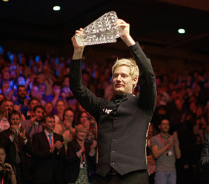 Neil Robertson (snooker player) - Neil Robertson winning the Masters trophy in 2012