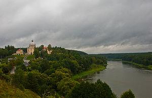 Liškiava - Nemunas and Liškiava seen from the hillfort