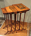 Nest of Tables or Quartetto Tables, attributed to Thomas Seymour, painting attributed to John Ritto Penniman, Boston, 1804-1810, maple, paint - National Gallery of Art, Washington - DSC09744.JPG