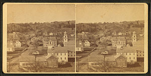New Boston, New Hampshire - Image: New Boston Village, N.H, by S. A. Putnam