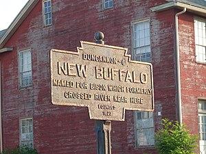 New Buffalo, Pennsylvania - Image: New Buffalo, PA Keystone Marker