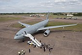New RAF Tanker Aircraft Voyager at the Royal International Air Tattoo, Fairford MOD 45152973.jpg