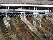 The tracks at the eastern end of Birmingham New Street station